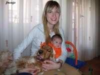 Aurora y Blanca con Linda, que la aceptado estupendamente