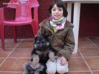 Claudia y su pequeña Akira de 2 meses