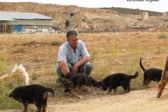 Daniel ayuda a sus cachorritos a ser exploradores